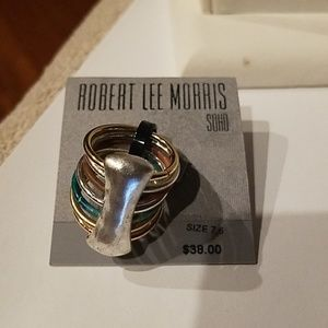 Robert Lee Morris Soho Multi Cocktail Ring sz 7.5